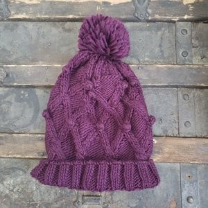 Maurices Cable Knit Pom Hat
